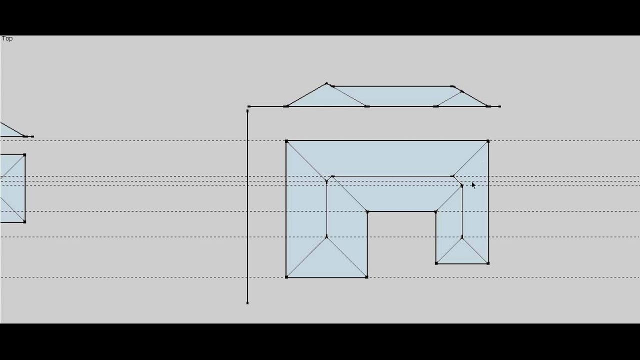 Roof Plan Elevation : Roof plan part elevations youtube