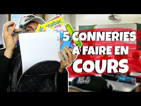 5 CONNERIES A FAIRE EN COURS (COLLÈGE & LYCÉE)