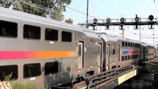 Amtrak and New Jersey Transit at North Elizabeth Station AM Rush Hour