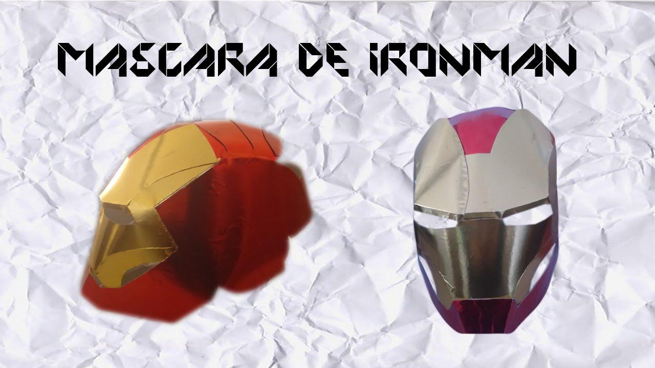 Monkey DIY: Como hacer la máscara de Iron man - YouTube