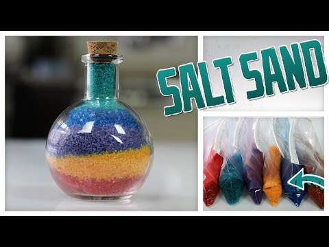 DIY Colorful Sand Art... Made With Salt! - Do It, Gurl