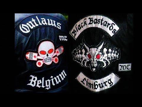 Outlaws MC Belgium let their Motorcycles Roaring 4 funeral Black Bastards  MC member Valère & Ingrid
