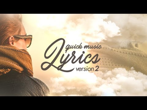 after effects lyric video template - quick music lyrics v2 after effects template youtube