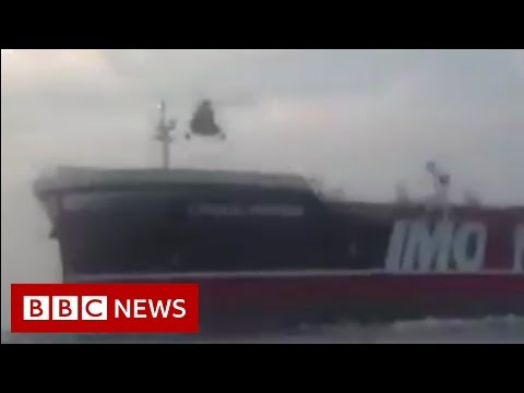 The moment Iranian forces board British tanker