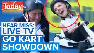 Ally unleashes inner speed demon - is Karl fast enough?   Today Show Australia
