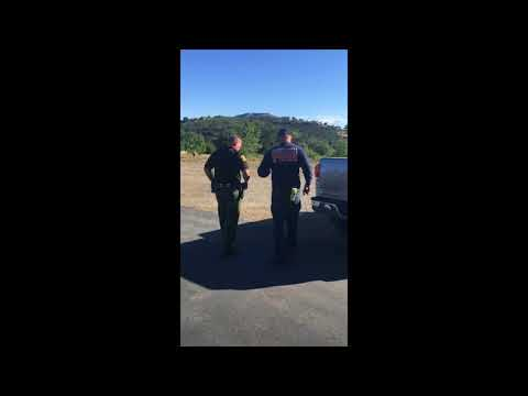 Fire. Capt. Dave Southcott Escorted out of Julian Station