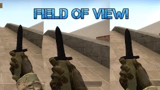 HOW TO CHANGE UR FIELD OF VIEW IN CSGO!