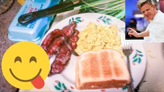 Chef Gordon Ramsay aint got nothing on me !! Cook some breakfast with me