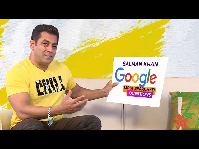 Salman Khan answers Google's Most Searched Questions in his Dabangg style