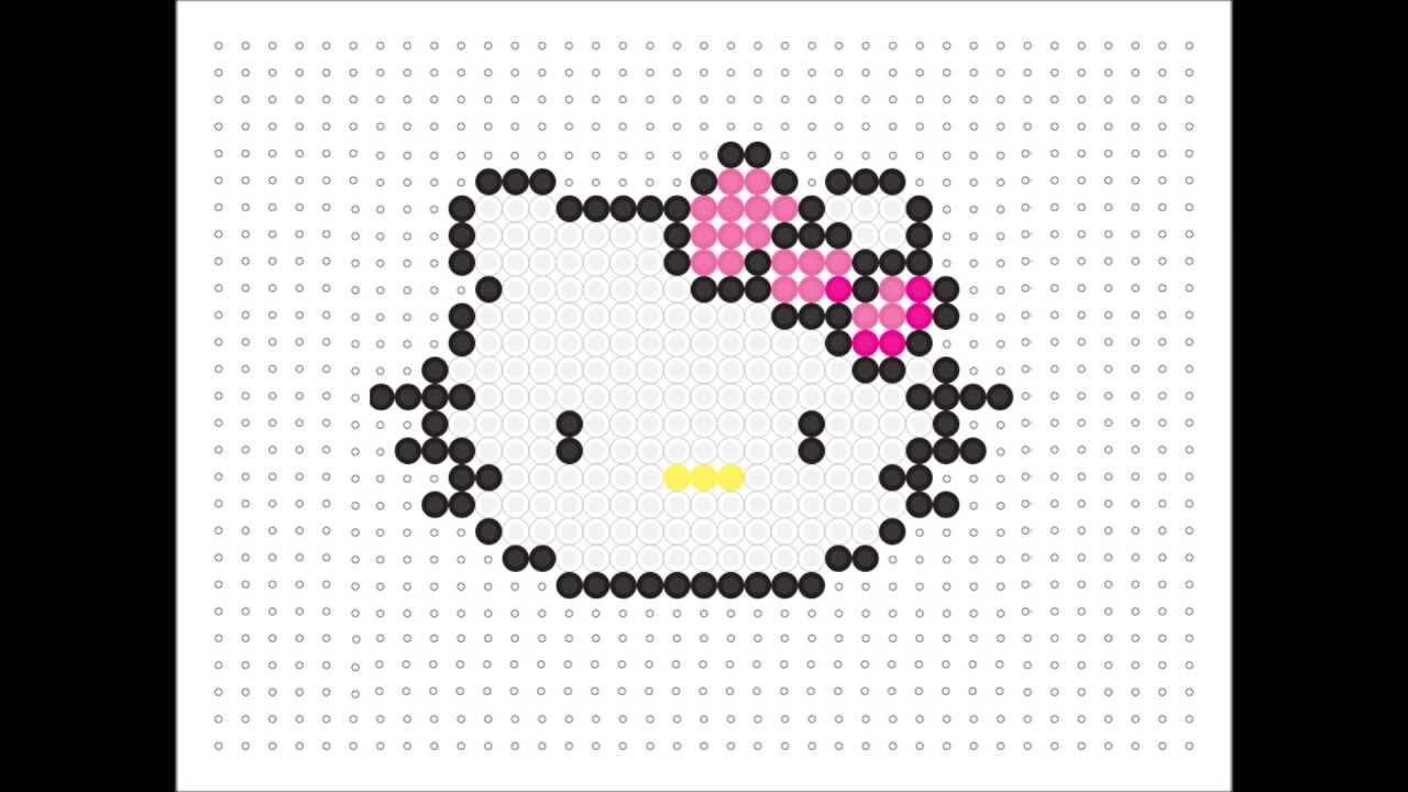 Hama Bead Hello Kitty Kawaii Series 9 Youtube