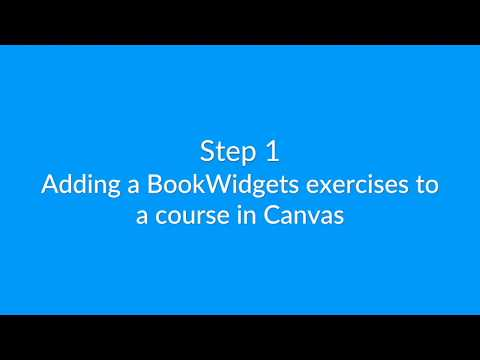 Creating interactive exercises & automatically graded tests right inside Canvas with BookWidgets