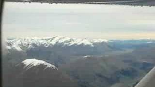 New Zealand: Flight from Milford Sound to Queenstown I