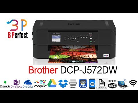 Unboxing Brother DCP-J572DW A4 Colour Injekt Printer, All In One Printer, Wireless,2-Sided Printing
