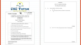 cxc tutor exam solutions may 2016 math paper 2 q1 ai aii