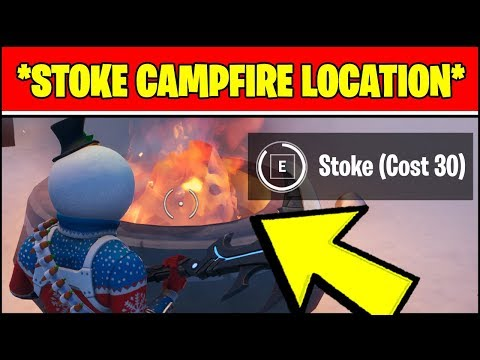 STOKE A CAMPFIRE LOCATIONS (Fortnite WINTERFEST Challenges)