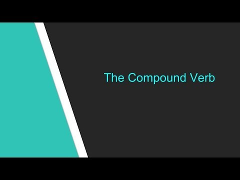 What Is A Compound Verb Youtube
