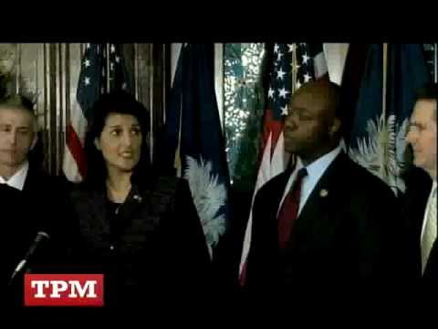 Nikki Haley Introduces Rep. Tim Scott  As Successor To Sen. Jim DeMint