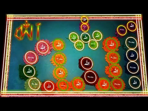DIY   How to Write ALLAH name with Flowers   ALLAH name with Lylon Lights