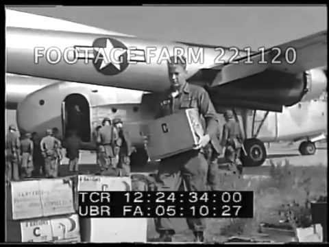 1958 - Army Airlift Arrival, Beirut, Lebanon 221120-07 | Footage Farm
