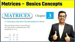 Matrices Elementary Operations Class 12th Maths NCERT