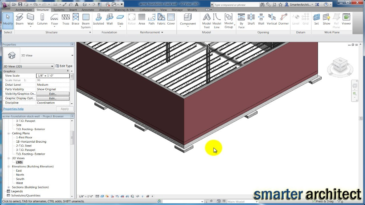 Revit Structure Tutorial Creating Revit Foundation Pads