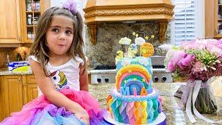 Настя и Мия - коллекция видео про день рождения ناستيا و بابا يحضِّران الآيس كريم