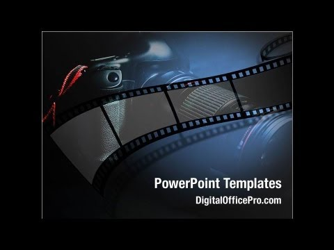 Film Strip PowerPoint Template Backgrounds - DigitalOfficePro ...