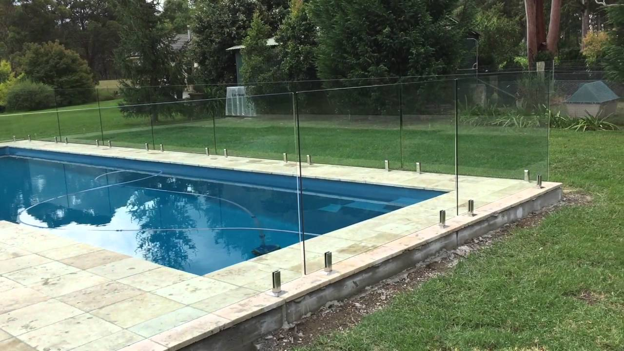 Glass Pool Fence frameless glass pool fence from the air - youtube