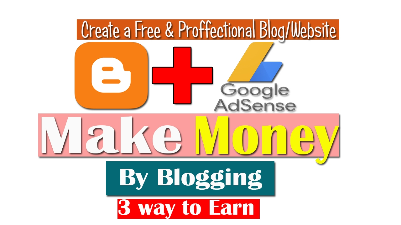 How To Create A Free Blog  Website  How To Make Money By Blogging Earn  Money Bog Online 2017