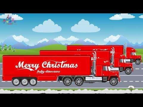 Trucks Videos For Children | Christmas Gifts | Transport Trucks - Video For Kids | Ciężarówki Bajki