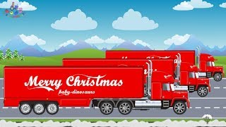 Trucks Videos For Children   Christmas Gifts   Transport Trucks - Video For Kids   Ciężarówki Bajki
