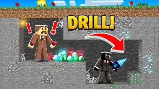CRAFTING a DIAMOND DRILL in Minecraft