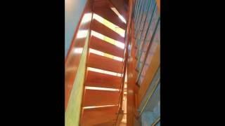Лестница на больцах из дуба два этажа в Москве(, 2013-12-10T20:10:47.000Z)