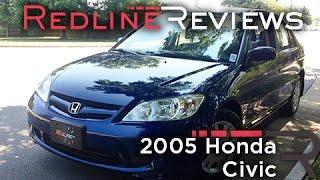 2005 Honda Civic Review, Walkaround, Exhaust, & Test Drive