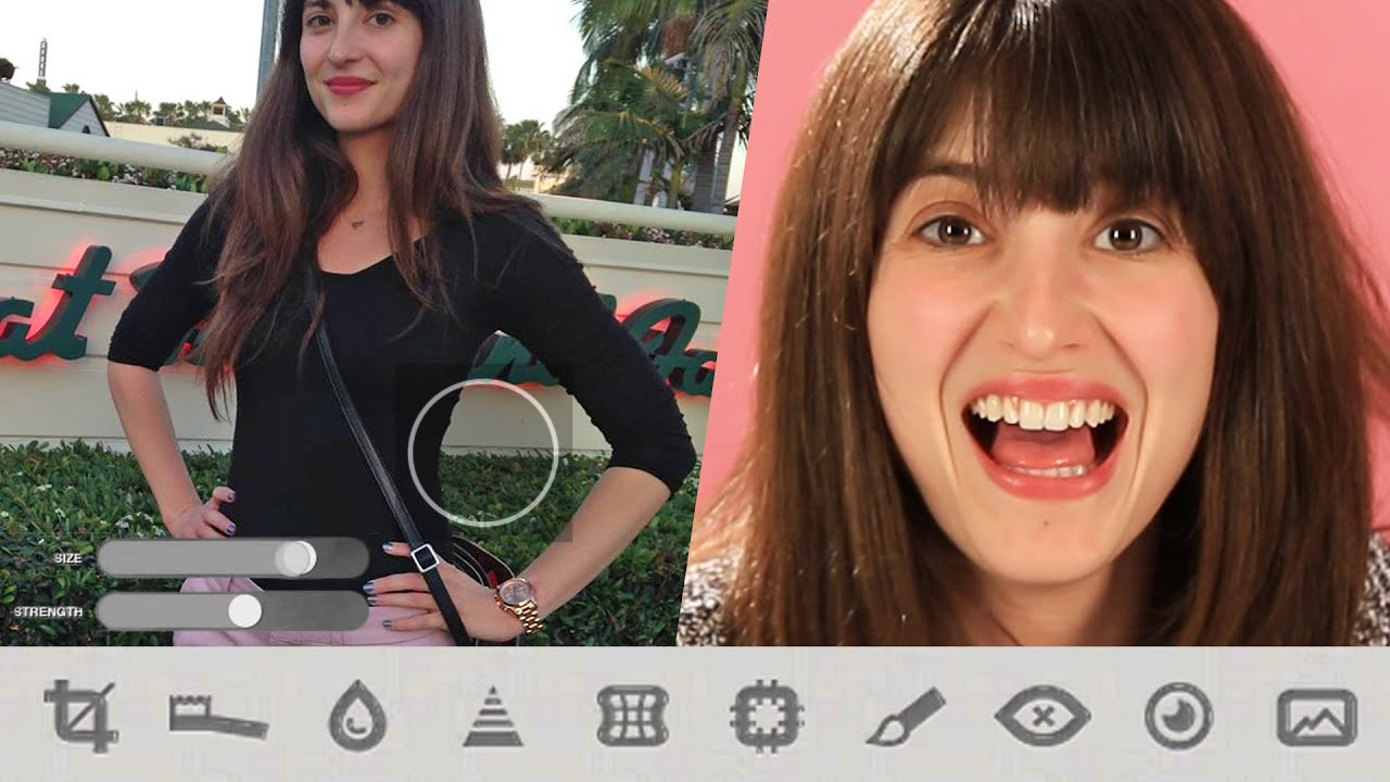 women photoshop their own bodies on an app youtube