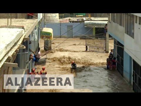 Floods and landslides kill scores in Peru