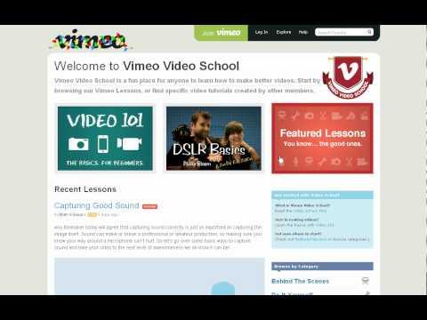 Vimeo Video School - Free Tutorials