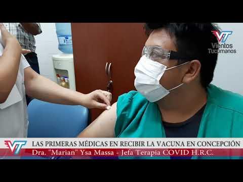 Comenzó la campaña de vacunación contra el Coronavirus en el Hospital de Concepción