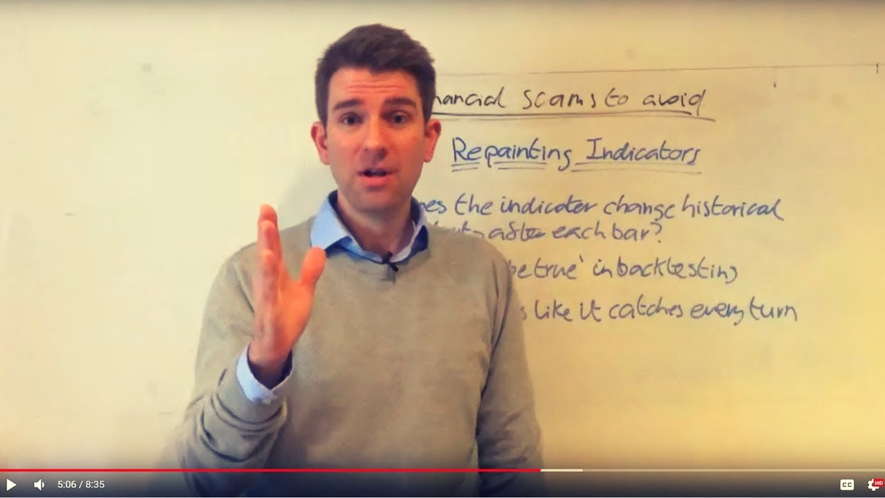 Repainting Indicators Trading Signals Forex Scam Youtube