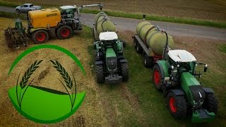 FENDT - Power bei der Gülleausbringung | Claas Xerion 3800 ST | 3 Fendt 936 Vario | New Holland