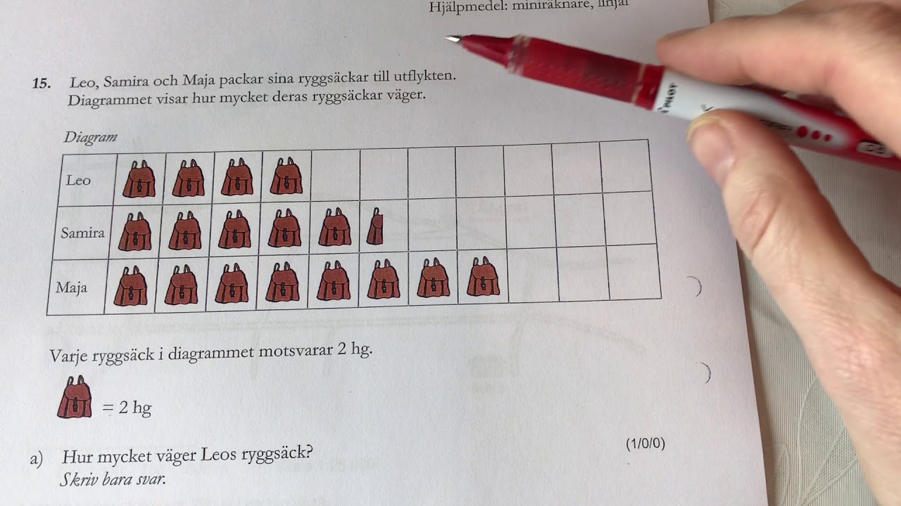 NP åk 6 matematik del C år 2013/2014