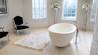 Luxury freestanding stone Castello baths and basins