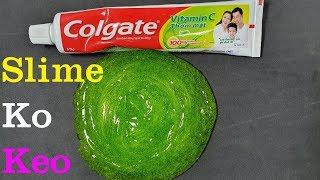 Hướng Dẫn Làm Slime Không Chất Kích Hoạt, Slime Làm Từ Kem Đánh Răng Và Muối