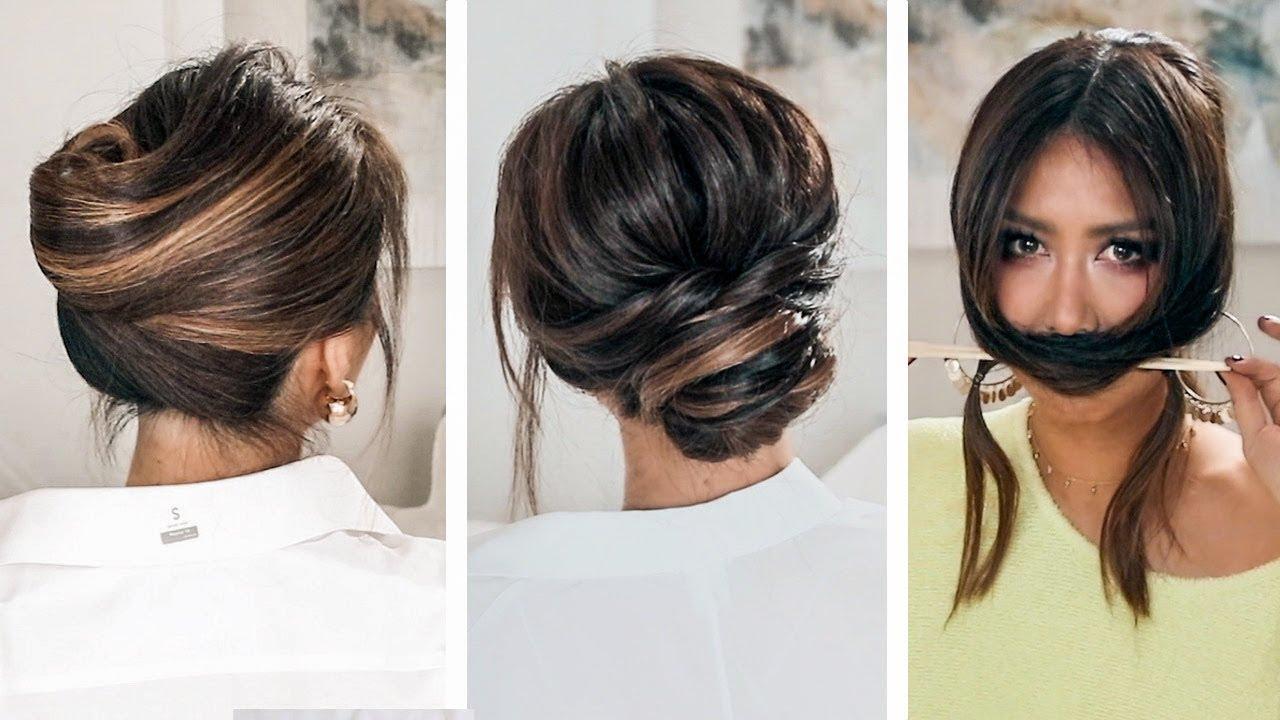 lazy, 👉but keep it elegant updos | 2019 spring hairstyles for long medium hair