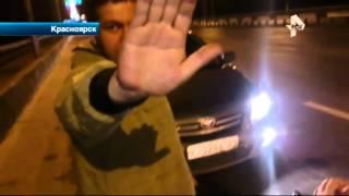 В Красноярске виновник ДТП устроил шоу на дороге