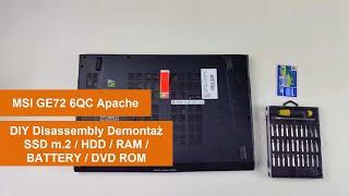 MSI GE72 6QC Apache - Otwieramy Obudowę - Poradnik PL