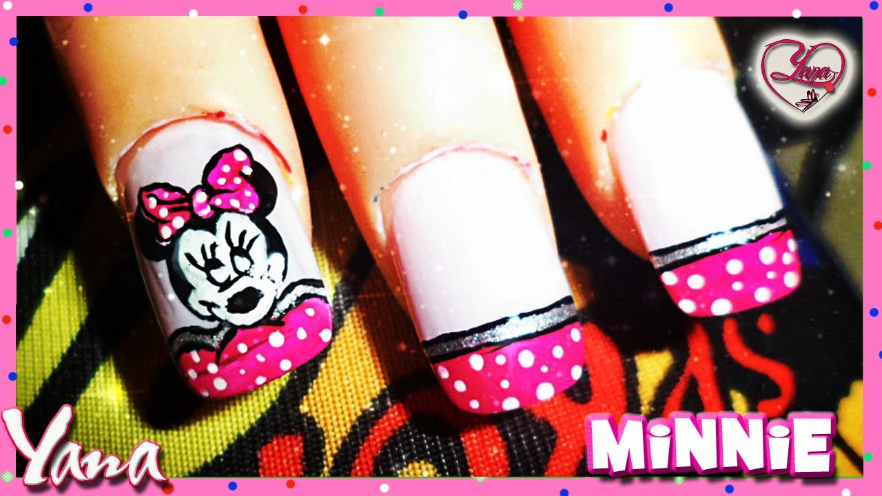 Decorado de Uñas Minnie Mouse - Yanacol - YouTube