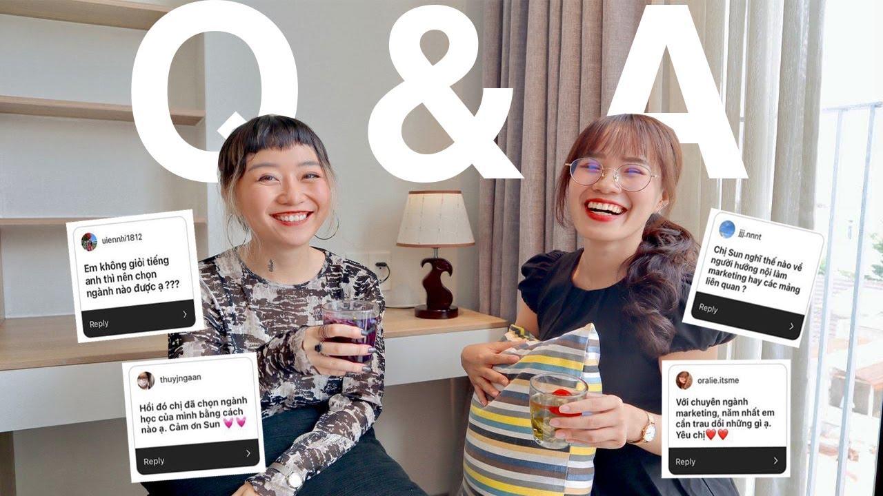 Tiếng Anh Quyết Định Việc Chọn Ngành? Q&A HƯỚNG NGHIỆP  Uống trà tâm tình   Sunhuyn