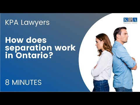 How Does Separation Work In Ontario?