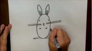 How To Draw A Bunny Rabbit Step By Step Easy Cartoon Tutorial